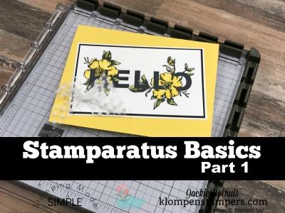 Stamparatus Basics Part 1