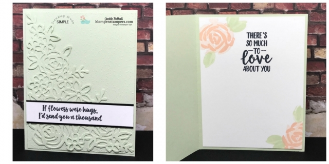 Soft Seafoam and Stampin' up Abstract Impressions