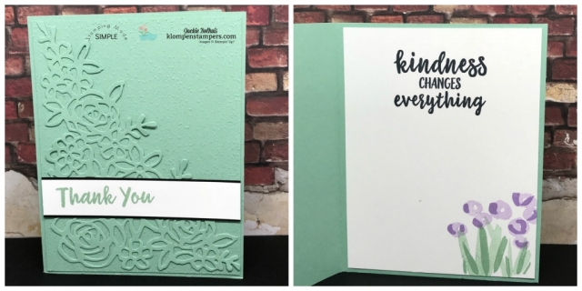 Mint Macaron elegant easy card using abstract impressions
