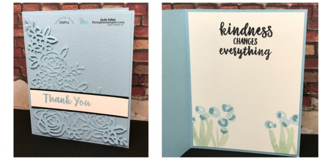 Easy, Elegant handmade card featuring Stampin' Up Balmy Blue