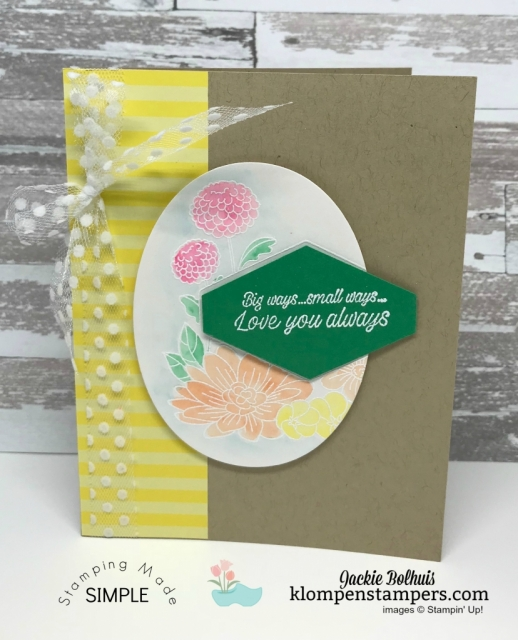 Accented Blooms and Pineapple Punch Stampin' Up!