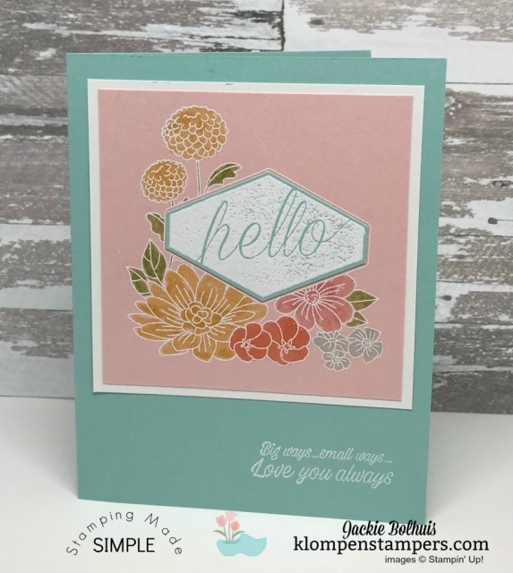 Stampin' Up! Accented Blooms