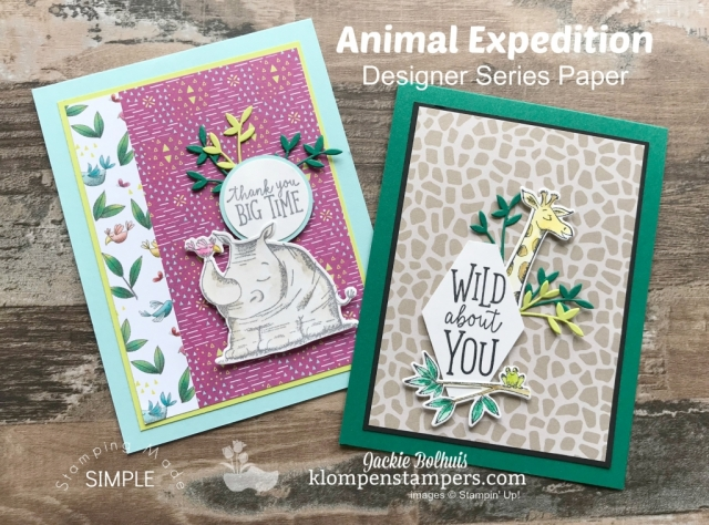 Stampin Up Animal Expedition