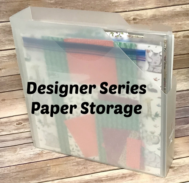 Easy storage solution for designer series paper