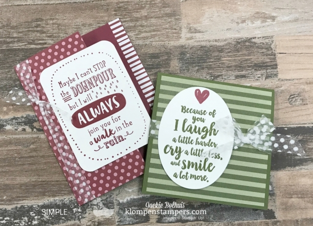 Fun Fold Card & Video Tutorial by Jackie Bolhuis. Watch Jackie teach this fun and unique card fold...lots of greeting card designs shared here! #cardmaking #greetingcards #stampinupcards #jackiebolhuis #klompenstampers