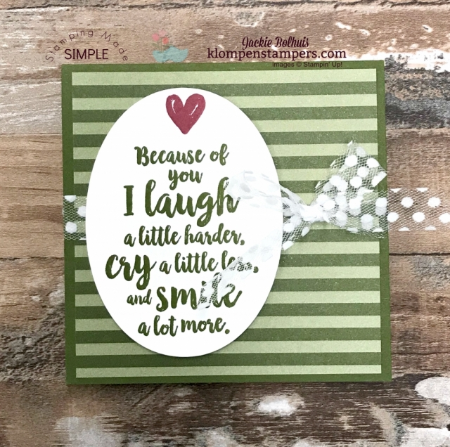 Stampin' Up! Mossy Meadow quick greeting card