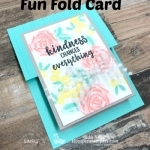 Fun Fold Card Using Abstract Impressions Stamp Set