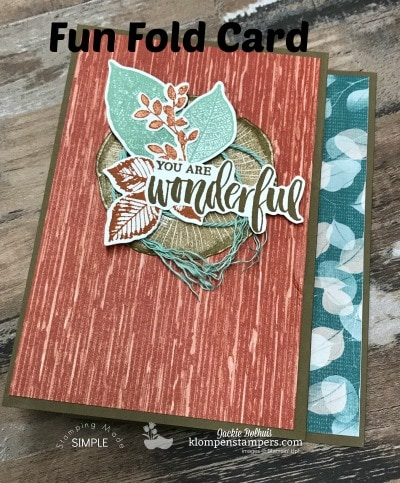 DIY Fun Fold Card Using Rooted in Nature