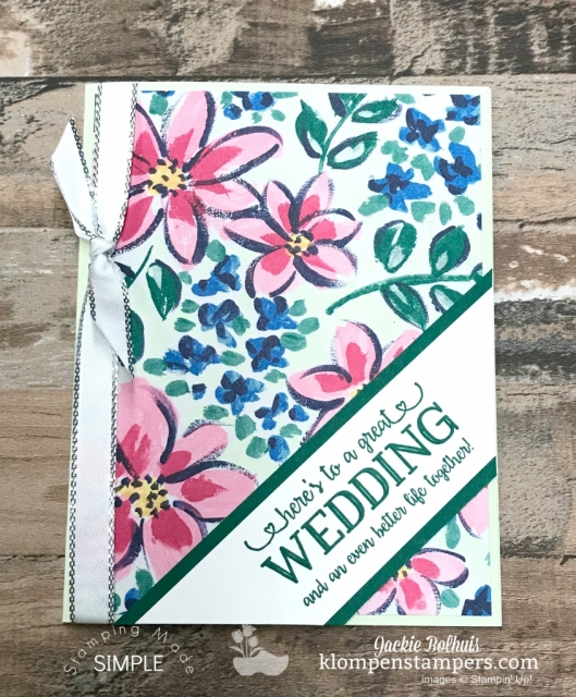 Wedding Card with Garden Impressions designer paper