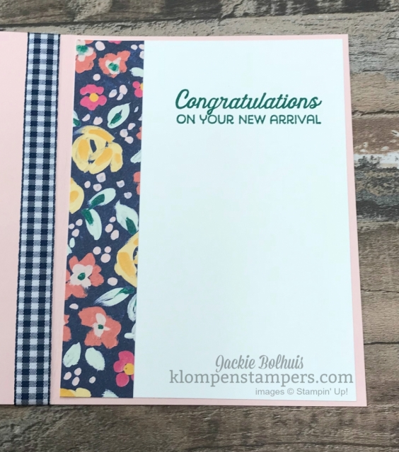 baby card with garden impressions designer paper.