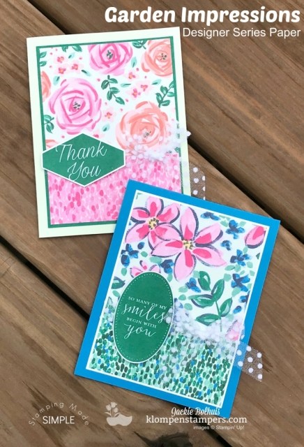 Garden Impressions Card Ideas