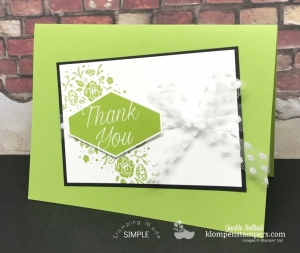 Granny Apple Green with Accented Blooms and Wood Words stamp set