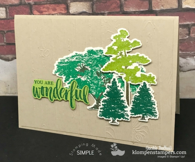 Stampin' Up 2018 Colors Green family