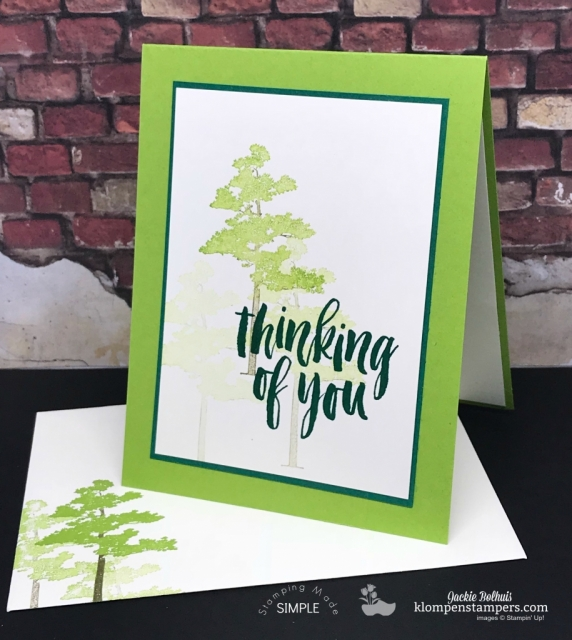 Rooted in Nature Thinking of you easy card to make