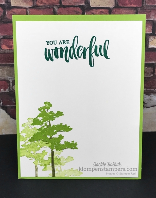 Stampin' Up! Rooted in nature handmade stamped card
