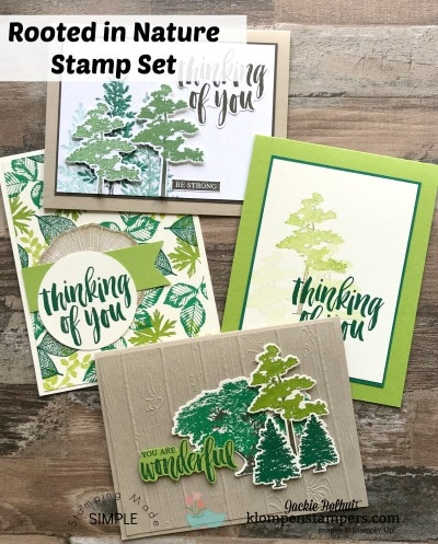 Rooted in Nature Stamp Set: 4 Easy Cards to Make