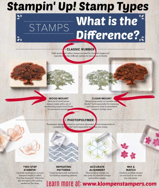 Stampin' Up! Stamp Types