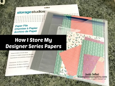 How I Store My Stampin' Up! Designer Paper