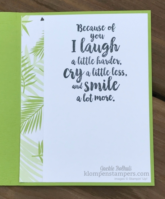 Stampin up tropical escape designer series paper