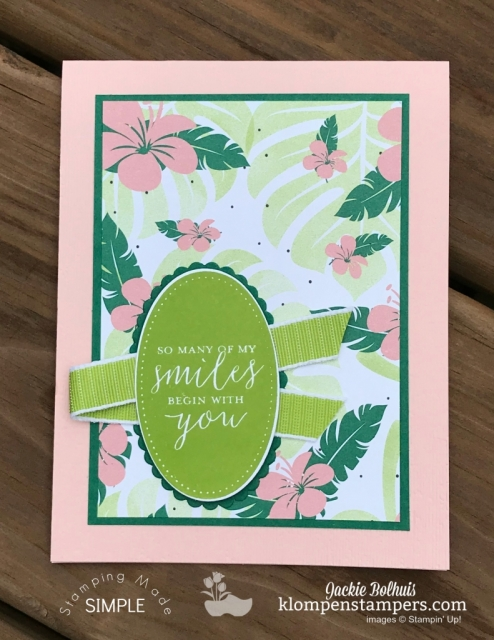 Simple Card Making With Designer Series Paper