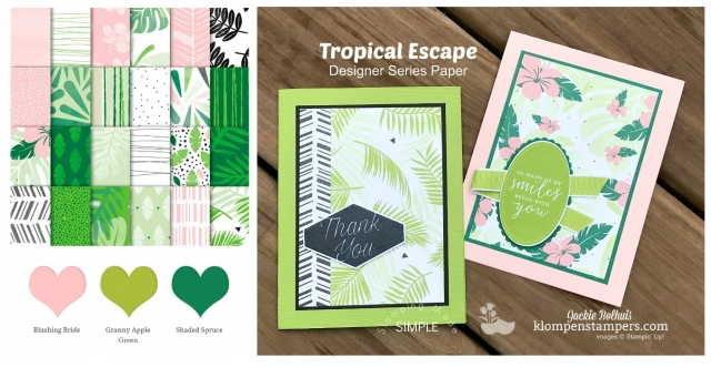 Stampin up designer series paper