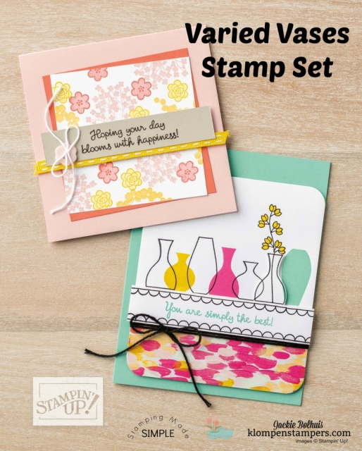 Quick cards using Varied Vases photopolymer stamps by Stampin' Up!