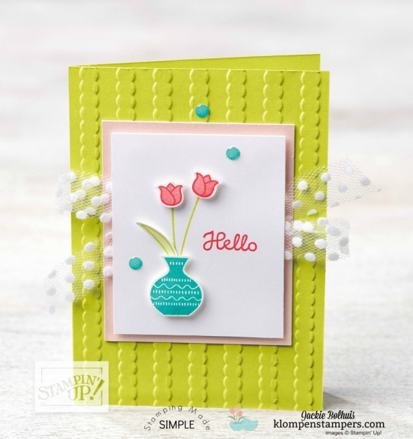 Varied Vases stamp set Photopolymer Stamp