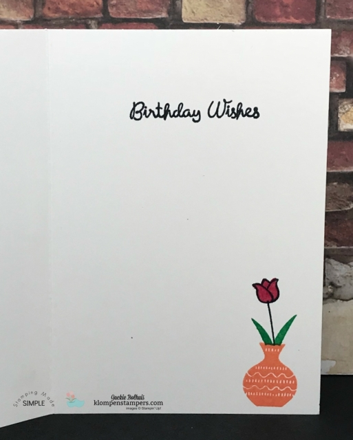 Varied Vases Stamp Set Birthday Card