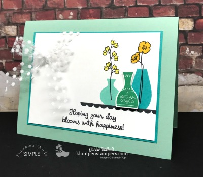 Varied Vases Stamp Set With New Colors