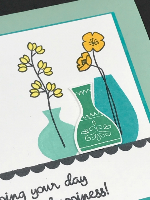 Stampin Up Vases Builder Punch up close