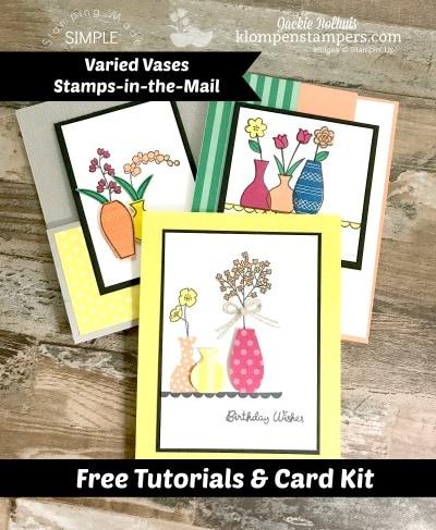 Free Tutorials & Card Kit With Varied Vases