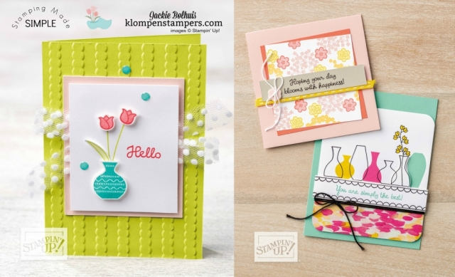 Varied Vases Stampin' Up Card making ideas