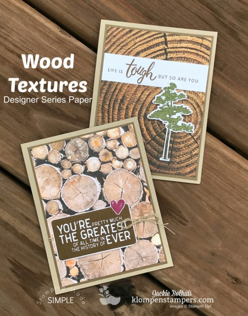 Masculine cards featuring wood textures by stampin up