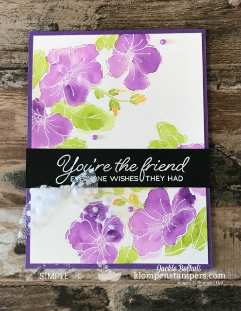 Watercolor Stampin up Blended Seasons handmade card