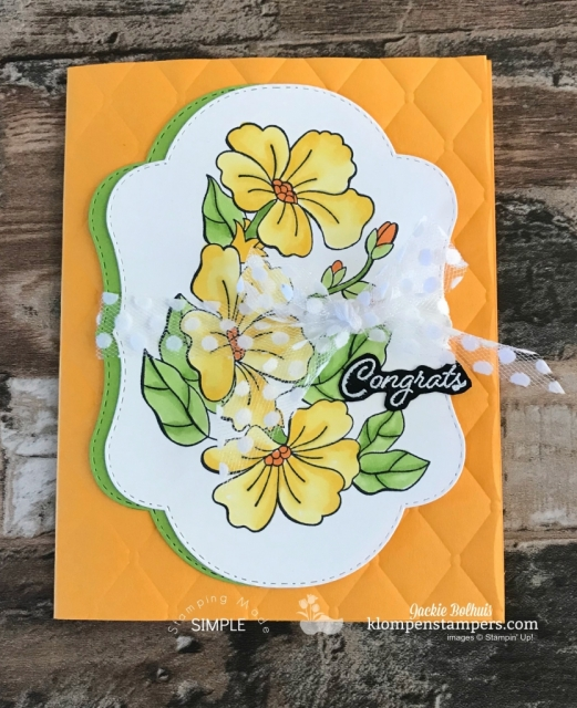 Stampin Blends coloring technique for handmade card