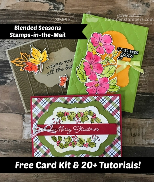 Blended Seasons Stamps in the mail free tutorials