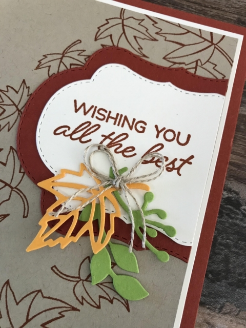 card design ideas using blended seasons from stampin up