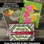 Free Card Kit & Tutorials with Blended Seasons