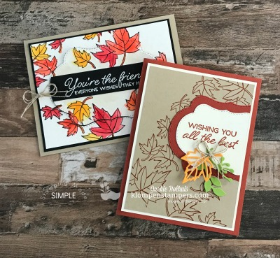 2 Fall Card Design Ideas Using Blended Seasons