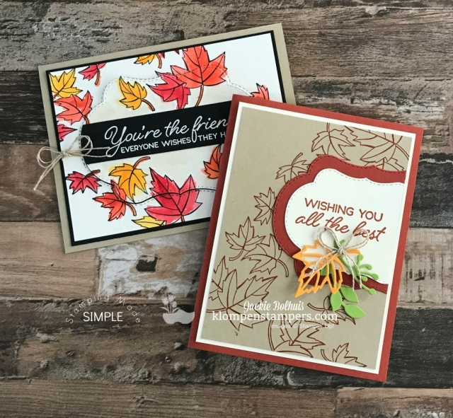 Fall Card Design Ideas by Jackie Bolhuis Klompen Stampers