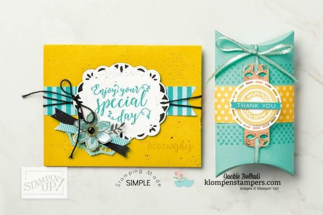 stampin up card design idea annual catalog 2018