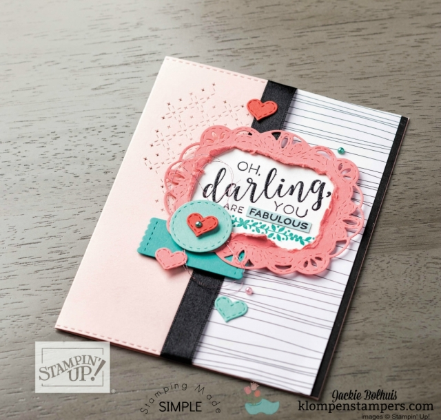 Stampin Up annual catalog 2018 card design idea
