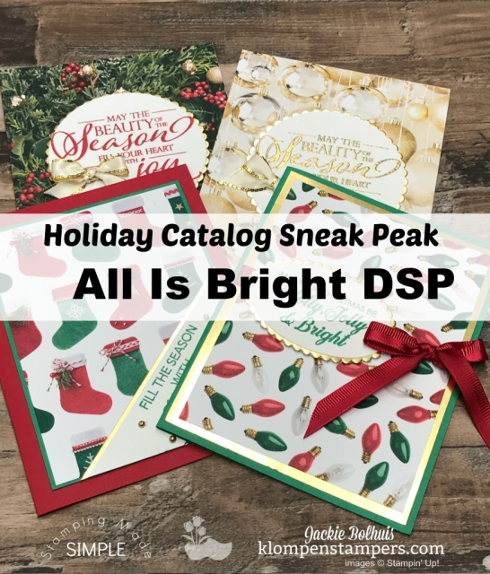 Stampin Up 2018 Holiday Catalog