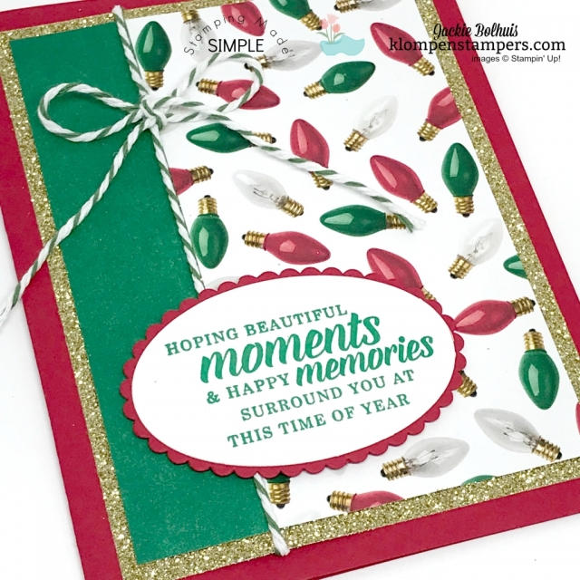 Easy Christmas Card designs by Jackie Bolhuis, Stampin' Up! Demonstrator