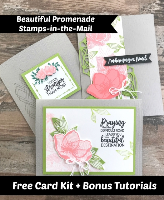 Free Card Kit using Stampin' Up! Beautiful Promenade by Jackie Bolhuis, Independent Stampin' Up! demonstrator.