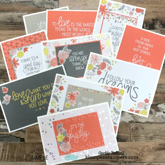 memories & more card packs by stampin up