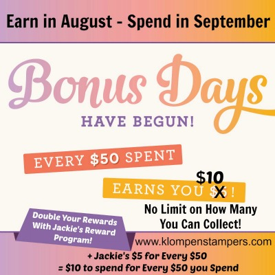 Bonus Days! Earn $10 for Every $50 You Spend