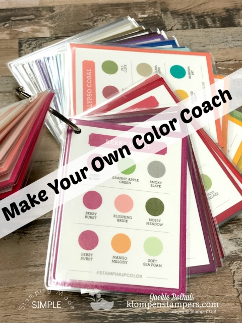 Make your own stampin up color coach with Jackie Bolhuis