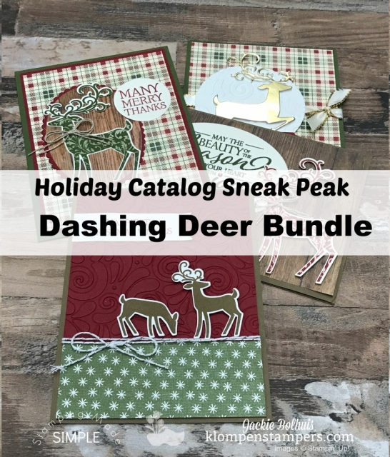 Stampin Up Dashing Deer Jackie Bolhuis Klompen Stampers