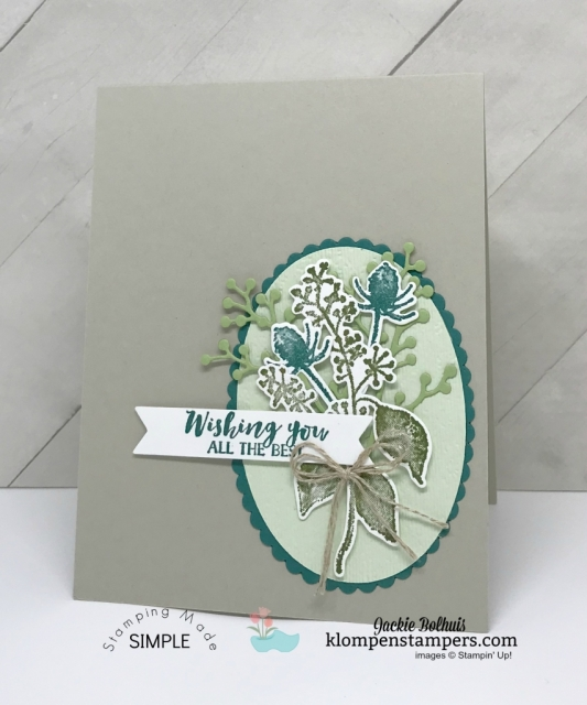 The Stampin' Up! First Frost stamp set is so versatile